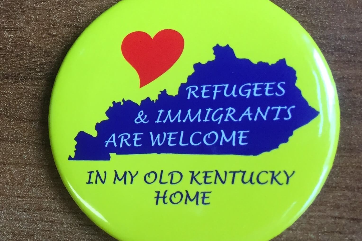 Refugee Immigrant Button Rectangle